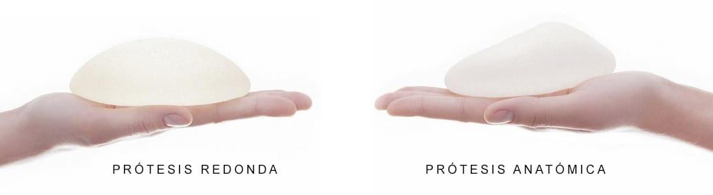 Prótesis mamarias para aumento de pechos: